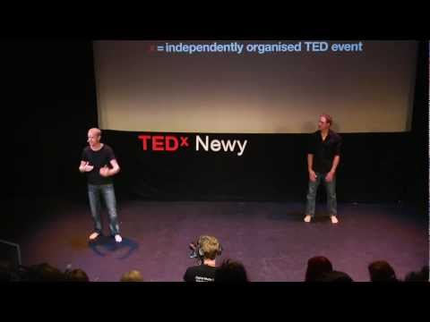 TEDxNewy2011 - Dave Robertson Silas Moss (Naked Runners) - Ditch the distractions and move your body