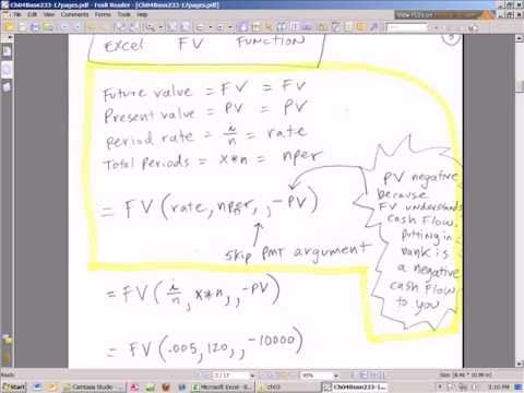 Excel Finance Class 21: Future Value Lump Sum Calculations, Simple & Compound Interest