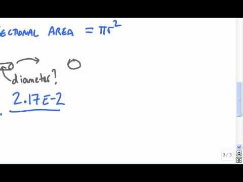Calculate the diamerter of a tungsten filament in a lightbulb