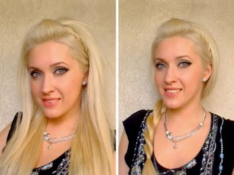 Cute easy summer party hairstyles for medium long hair Half up half down rockstar tutorial 2011