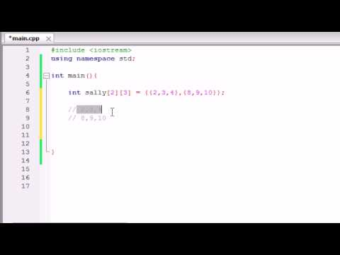 Buckys C++ Programming Tutorials - 36 - Multidimensional Arrays