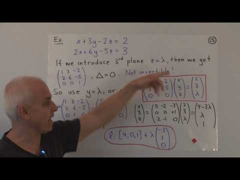 WildLinAlg10g: Equations of lines and planes in 3D (cont.)
