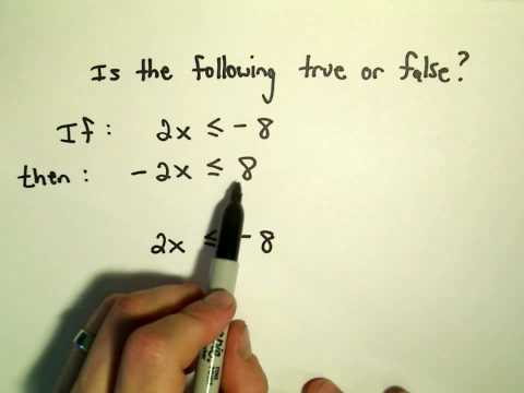 A Fundamental True/False Questions about Inequalities!