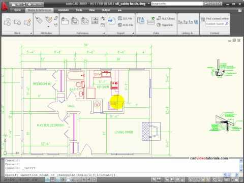 AutoCAD Tutorial -  Inserting Blocks and Symbols