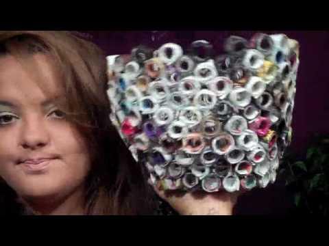 DIY: Magazine Paper Garbage Bin