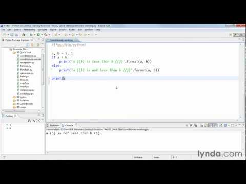 Python tutorial: How to write conditional statements | lynda.com