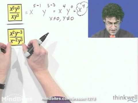 Pre-Algebra: Quotient Properties of Exponents