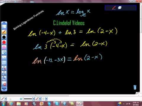 Solving Logarithmic Functions Pt III