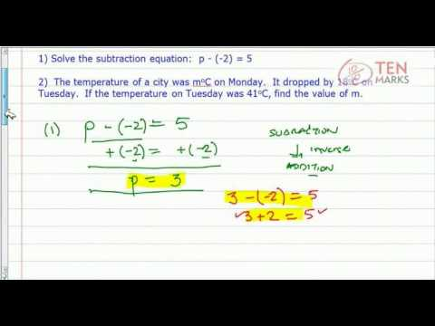 Solve and Apply Subtraction Equations