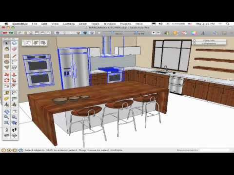 The SketchUp Show #56: Using Dynamic Component Appliances in the Kitchen