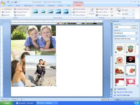 Word 2007 Tutorial 21 (1/2) Making Custom Cards for Mothers Day, Birthdays, and Other Occasions