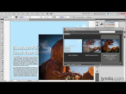 Placing a pixel-based image in Illustrator | lynda.com tutorial