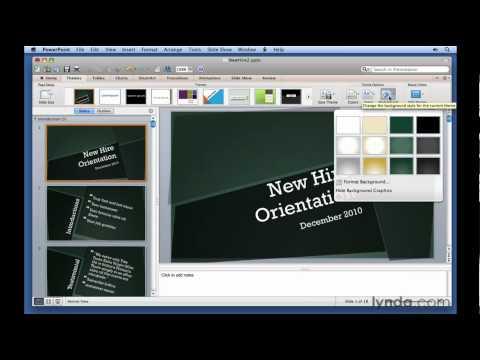PowerPoint: How to modify themes   lynda.com tutorial