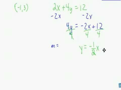Parallel and Perpendicular Equations for Lines