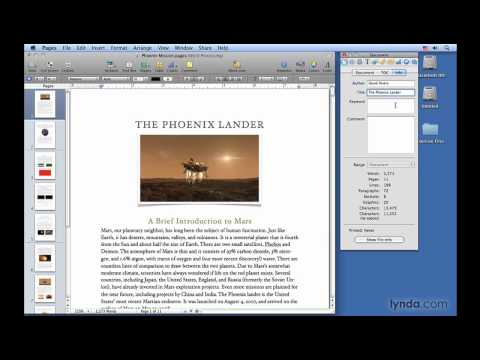 Pages: Viewing and adding document info | lynda.com