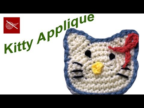 Pretty  Kitty Crochet Applique