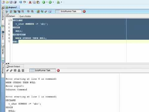 Oracle PL/SQL Tutorial -  What Are Exceptions