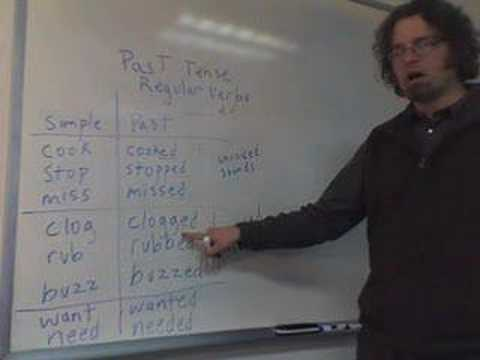 Regular Verbs in the Past Tense
