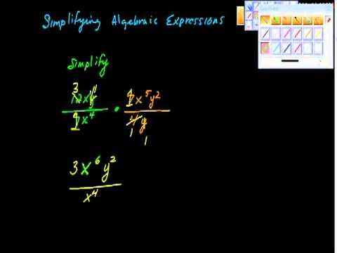 simplifying Algebraic Expressions algebra