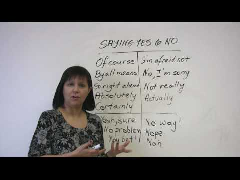 Polite English - Saying Yes and No