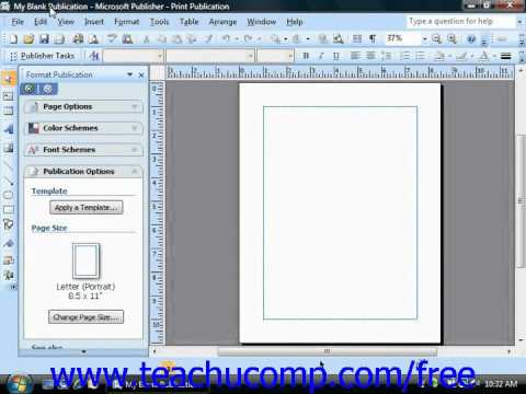 Publisher 2003 Tutorial Saving Your Publications Microsoft Training Lesson 1.15