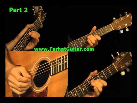 Wish you were here - Pink Floyd - Guitar  Part 2 www.FarhatGuitar.com