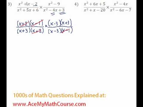 Rationals - Multiplying & Dividing Rational Expressions #3-4