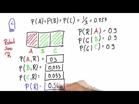 Robot Sensing 7 Solution - Intro to Statistics - Bayes Rule - Udacity