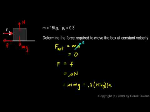 Physics 4.7.3b - Friction Example 2