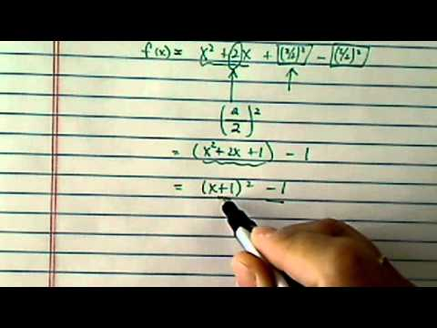 Vertex & Axis of Symmetry: x^2 + 2x