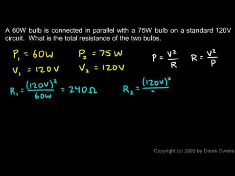 Physics 13.4.3a - Parallel Resistors Example
