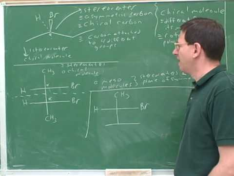 Organic chemistry: Stereochemistry (2)