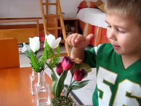Preschool - Life Skills. Flower arranging activity