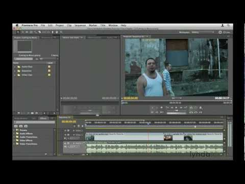 Premiere Pro: How to cut video to music   lynda.com tutorial