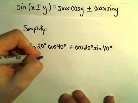 Sum and Difference Identities to Simplify an Expression, Example 1