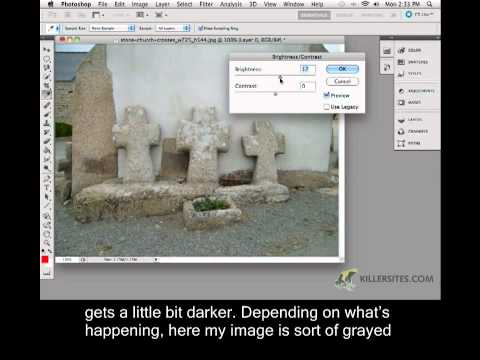 Photoshop CS5 Closed Captioned - Brightness & Contrast