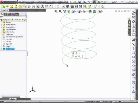 Solidworks 2012 Tutorial | More Helical Sweeps