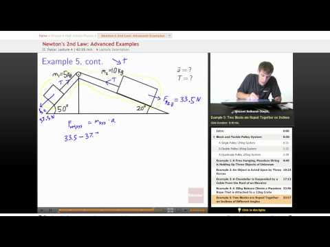 Physics: Advanced Examples of Newton's 2nd Law