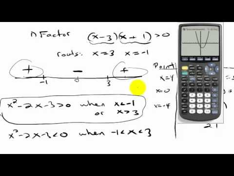 Quadratic Inequalities Part 2