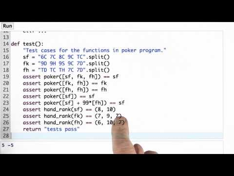 Testing Hand Rank Solution - CS212 Unit 1 - Udacity