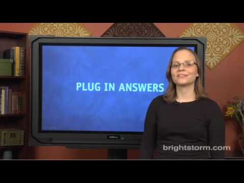 SAT Plugging In Answers