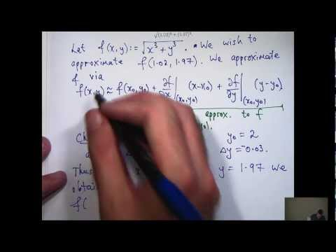 Taylor polynomials + functions of two variables