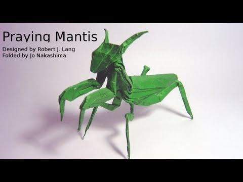 Origami Praying Mantis (Robert J. Lang) - Not a Tutorial