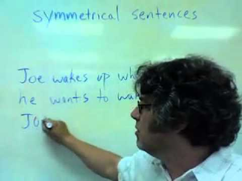 symmetrical sentences