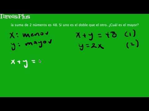 Problema de ecuaciones con la suma de dos números