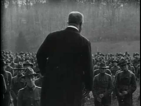 Theodore Roosevelt Reviewing and Speaking to 13th Regiment at Sagmore Hill, 1917
