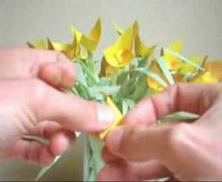 Yellow Flower Folding