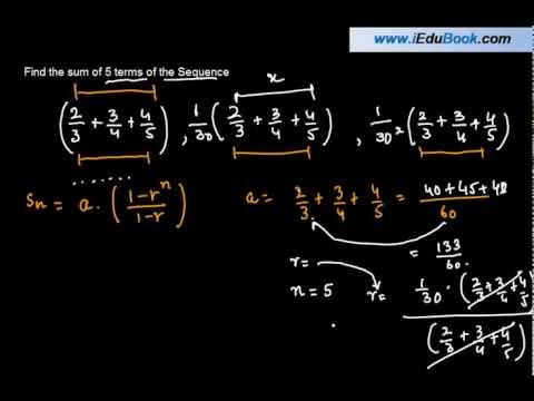 Sum of 5 terms of a Geometric Progression where a is a Complex fraction - - Class XI Maths CBSE