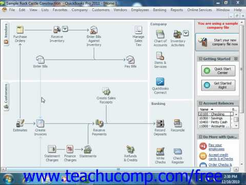QuickBooks 2011 Tutorial Viewing Your Company Information Intuit Training Lesson 25.1