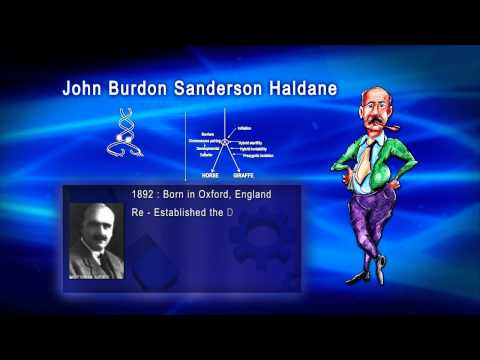 Top 100 Greatest Scientist in History For Kids(Preschool) - JOHN BURDON SANDERSON HALDANE